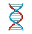 DNA cartoon icon isolated on white background vector image