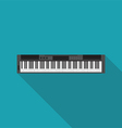 electronic piano music instrument flat design vector image