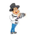 man with digital camera vector image