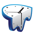 melting clock vector image