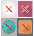 school education flat icons 01 vector image