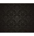 Seamless wallpaper pattern black vector image