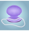 Shell with pearl beads vector image
