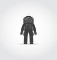 Astronaut Black Icon vector image vector image
