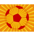 Ball for football vector image