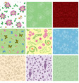 floral backgrounds with flowers - seamless vector image