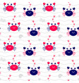 seamless pattern crab vector image vector image