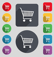 shopping cart icon sign A set of 12 colored vector image