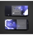 Set of modern design banner template in neon vector image