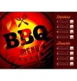 Design BBQ menu vector image