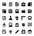 Education and School Icons 3 vector image