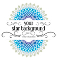 blue stylish background vector image vector image