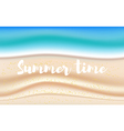 background with summer sandy beach vector image