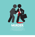 Businessman Being Stabbed With A Knife vector image