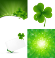 Clover Backgrounds vector image