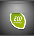 Eco friendly tag vector image