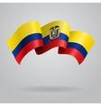 Ecuadorian waving Flag vector image