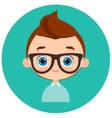 Faces Avatar in circle Portrait young boy with vector image