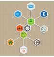 Infographic template design - hexagon background vector image