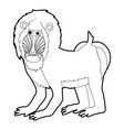 mandrill icon outline vector image