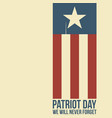 patriot day two twin towers depicted on the flag vector image