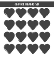 Set of Hearts Grunge stamps collection love vector image