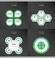 set of presentation design neon green color vector image