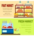 Fruit and fresh market vector image