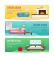 Furniture Horizontal Banners Set vector image