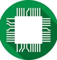 Computer Microchip Icon vector image vector image