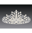 tiara crown womens wedding on a grey background vector image