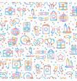 party celebration seamless pattern birthday vector image