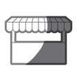 Grayscale silhouette of store icon vector image