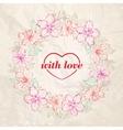 Floral wreath - Valentine design vector image
