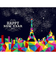 New year 2015 France poster design vector image