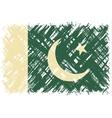 Pakistani grunge flag vector image