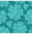 blue flourish seamless pattern vector image