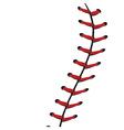 Baseball Lace Background3 vector image