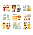 Beach Outfit Sets Of Clothing And Accessories vector image vector image