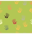 Hand palm ink splash print seamless background vector image