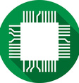 Computer Microchip Icon vector image