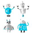 cute retro robots vector image