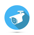 Flat Icon of Security Camera vector image