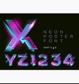 neon type shining purple character fluorescent vector image