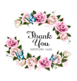 Thank You background with beautiful roses and vector image