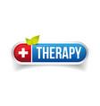 Therapy button logo vector image