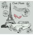 Vintage poster of Paris theme vector image