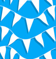 White flags on rope in a seamless pattern vector image