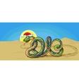 snake symbol 2013 vector image vector image