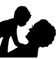 mother and baby on her hands vector image